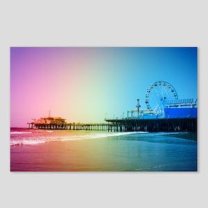 Santa Monica Pier Rainbow Postcards (Package of 8)