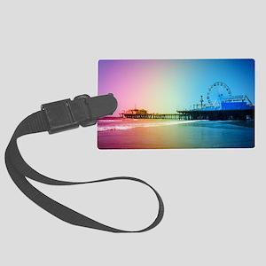Santa Monica Pier Rainbow Large Luggage Tag