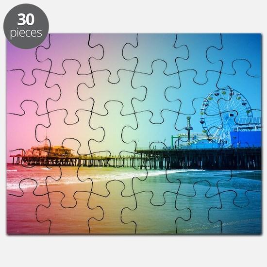 Santa Monica Pier Rainbow Puzzle