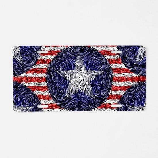 Van Gogh's Bonnie Blue Flag Aluminum License Plate