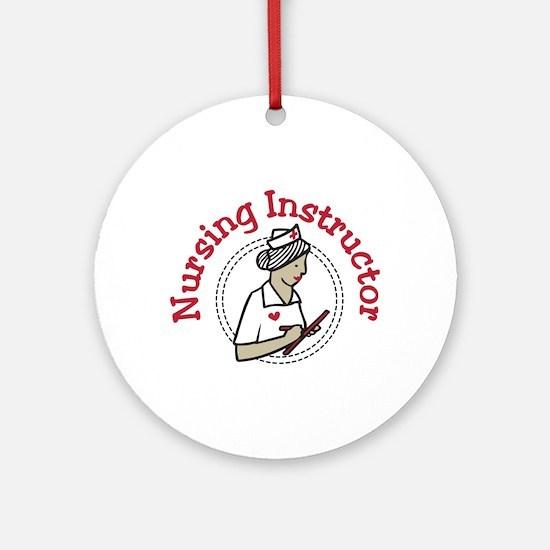 Nursing Instructor Ornament (Round)