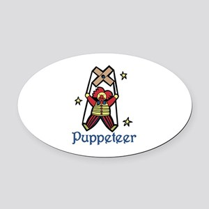 Puppeteer Oval Car Magnet