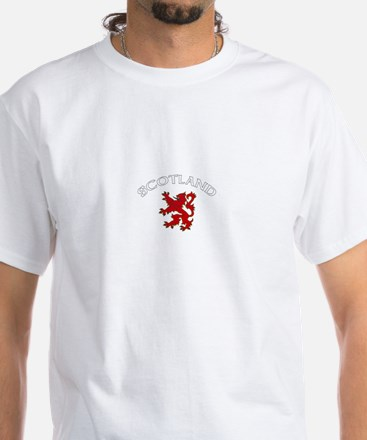 Scotland Lion (Dark) White T-Shirt