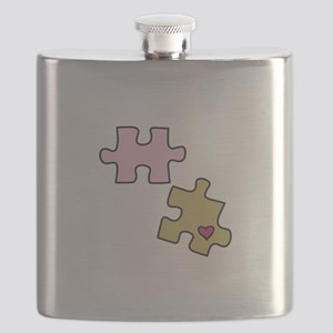 Piece with Heart Flask