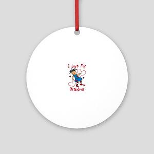 Love My Grandma Ornament (Round)