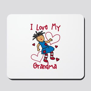 Love My Grandma Mousepad