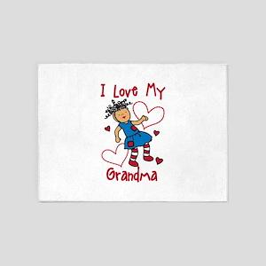 Love My Grandma 5'x7'Area Rug