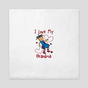 Love My Grandma Queen Duvet