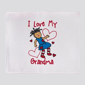 Love My Grandma Throw Blanket