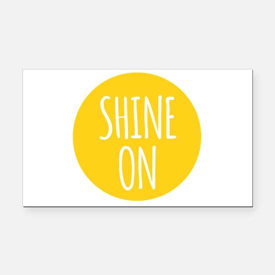 shine on Rectangle Car Magnet