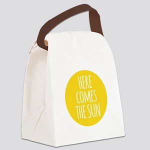 Here comes the sun Canvas Lunch Bag