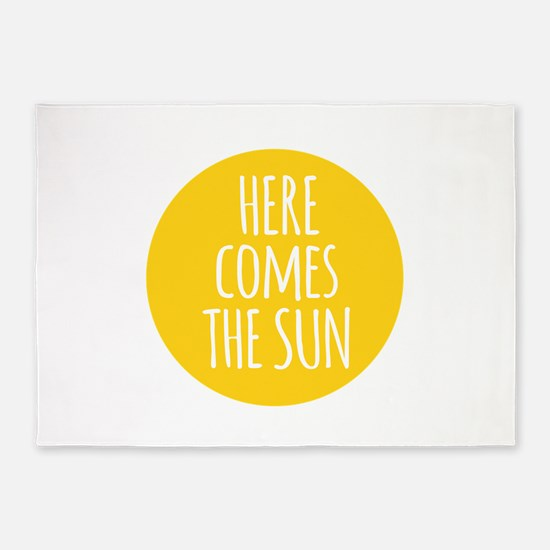 Here comes the sun 5'x7'Area Rug