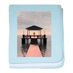 Waterside Gazebo baby blanket