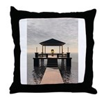 Waterside Gazebo Throw Pillow
