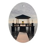 Waterside Gazebo Ornament (Oval)