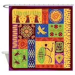 African Art Shower Curtain