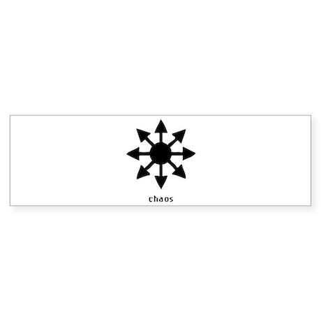 Chaos Symbol Bumper Sticker