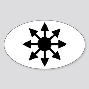 Chaos Symbol Oval Sticker