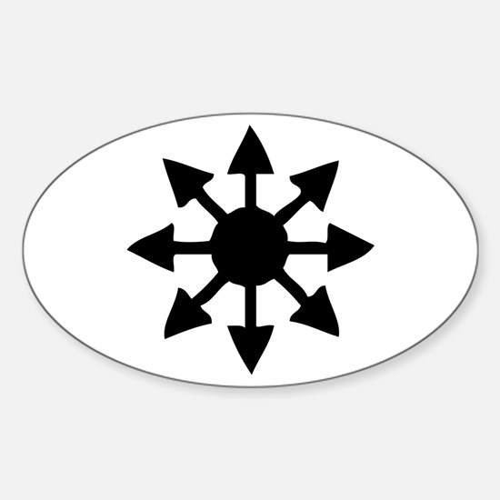 Chaos Symbol Oval Decal