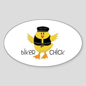 Biker Chick Sticker