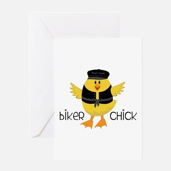 Biker Chick Greeting Cards
