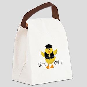 Biker Chick Canvas Lunch Bag