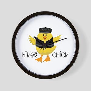 Biker Chick Wall Clock