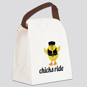 Chicks Ride Canvas Lunch Bag