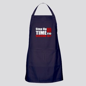09 Time To Grow Up Birthday Designs Apron (dark)