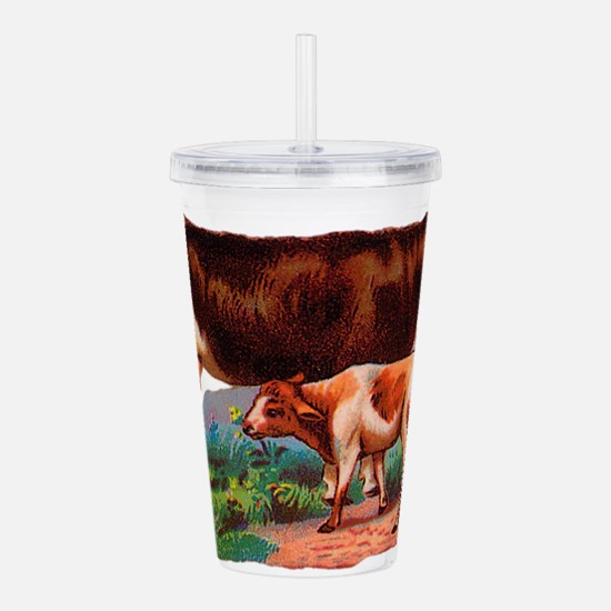 Cow and calf Acrylic Double-wall Tumbler