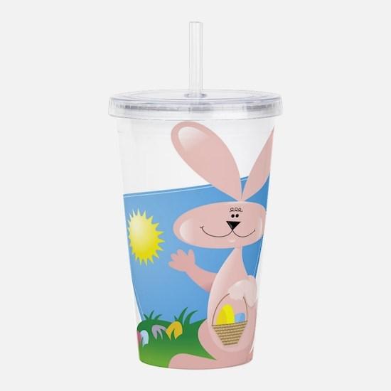 easter bunny Acrylic Double-wall Tumbler
