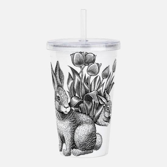 Easter bunny pencil drawing Acrylic Double-wall Tu