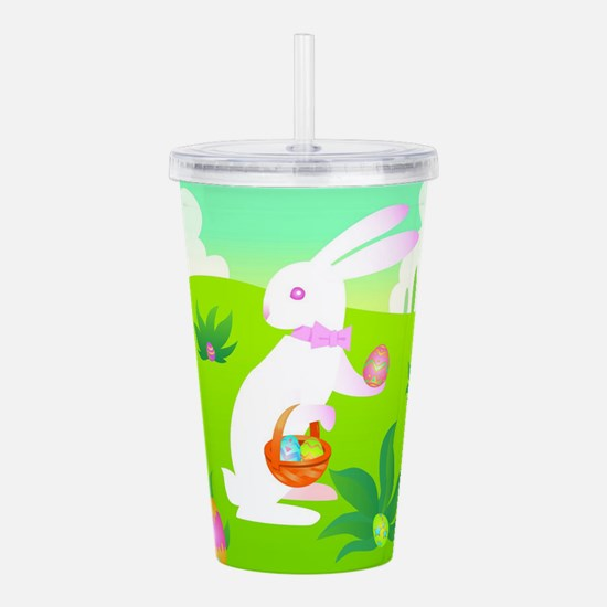 Easter white easter bunny Acrylic Double-wall Tumb
