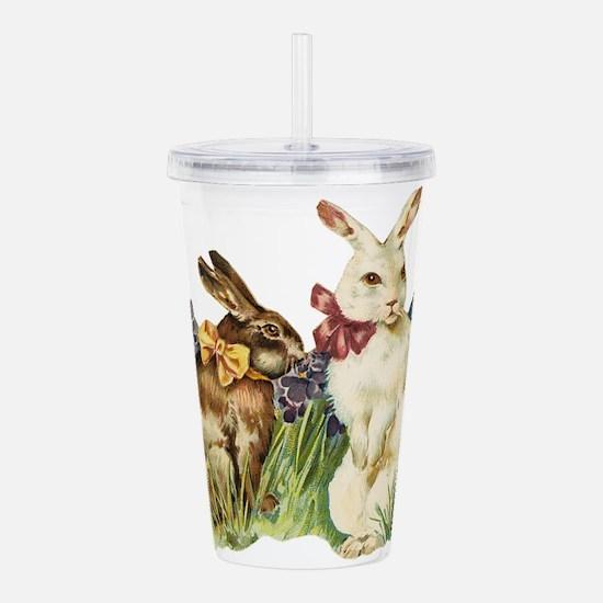 easter rabbits Acrylic Double-wall Tumbler