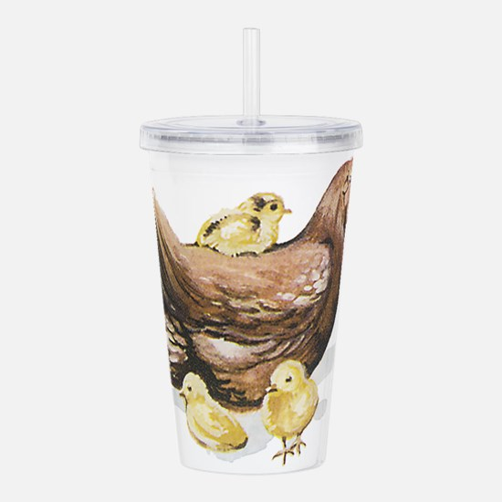 Hen and Chicks Acrylic Double-wall Tumbler