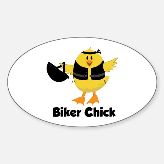 Biker Chick Decal