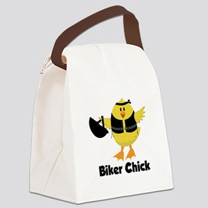 Biker Chick Canvas Lunch Bag