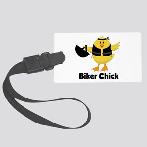 Biker Chick Luggage Tag
