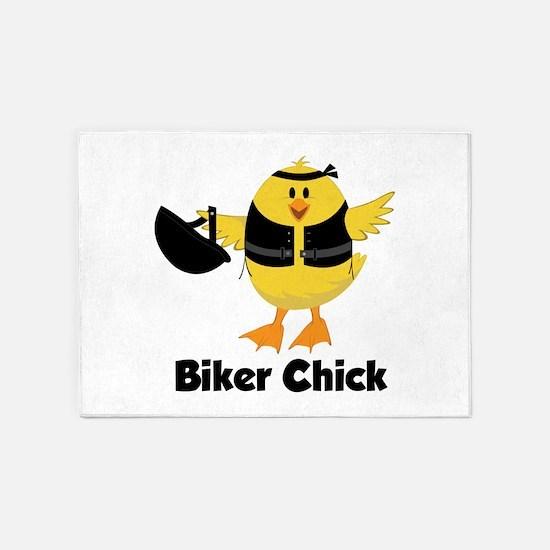 Biker Chick 5'x7'Area Rug