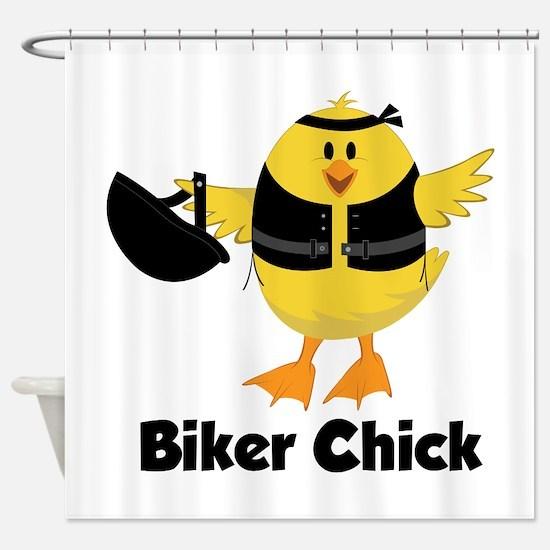 Biker Chick Shower Curtain