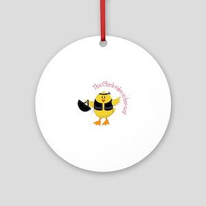 This Chik Rides Ornament (Round)