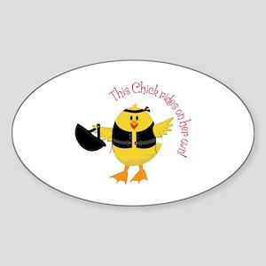 This Chik Rides Sticker