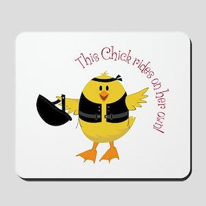 This Chik Rides Mousepad