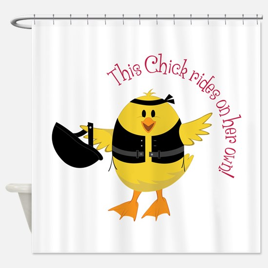 This Chik Rides Shower Curtain
