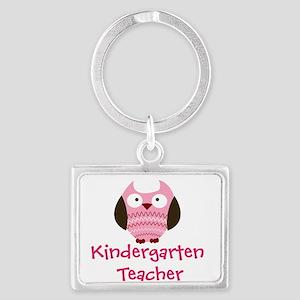 Pink Owl Kindergarten Teacher Keychains
