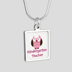 Pink Owl Kindergarten Teacher Necklaces