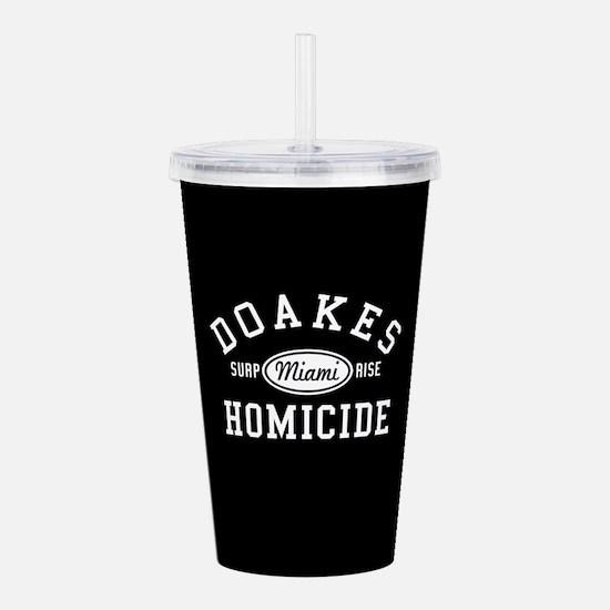 Dexter Doakes Homicide Acrylic Double-wall Tumbler