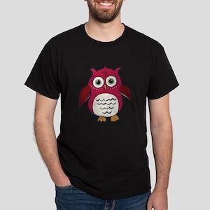 Red Cartoon Owl T-Shirt