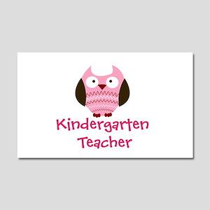 Pink Owl Kindergarten Teacher Car Magnet 20 x 12
