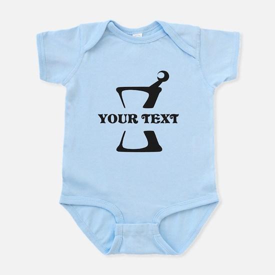 Black your text Mortar and Pestle Infant Bodysuit